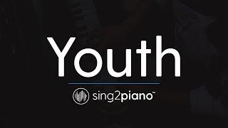 Youth (Piano Karaoke Instrumental) Shawn Mendes & Khalid