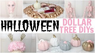 5 EASY & AFFORDABLE HALLOWEEN DIY CRAFTS! ♡ DOLLAR TREE 2017 ♡ GIRLY PINK  & GOLD DECOR!
