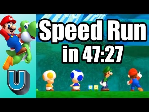 New Super Mario Bros. U Any% Speed Run in 47:27 by Kidlat404 (World Record Attempt)
