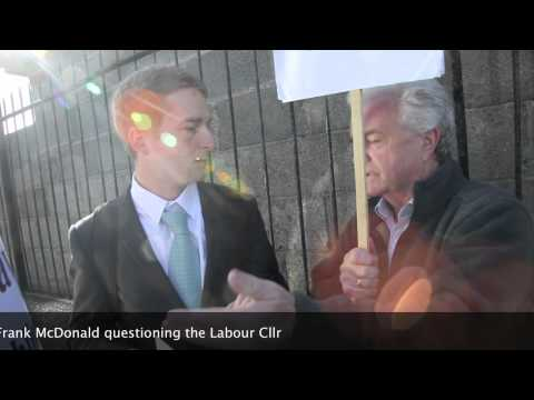 Eamon Gilmore hospital closure picket 5th September 2011