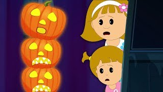 🎃 Five JACK-O-LANTERNS 🎃  Nursery Rhyme for Kids by Hoopla Halloween
