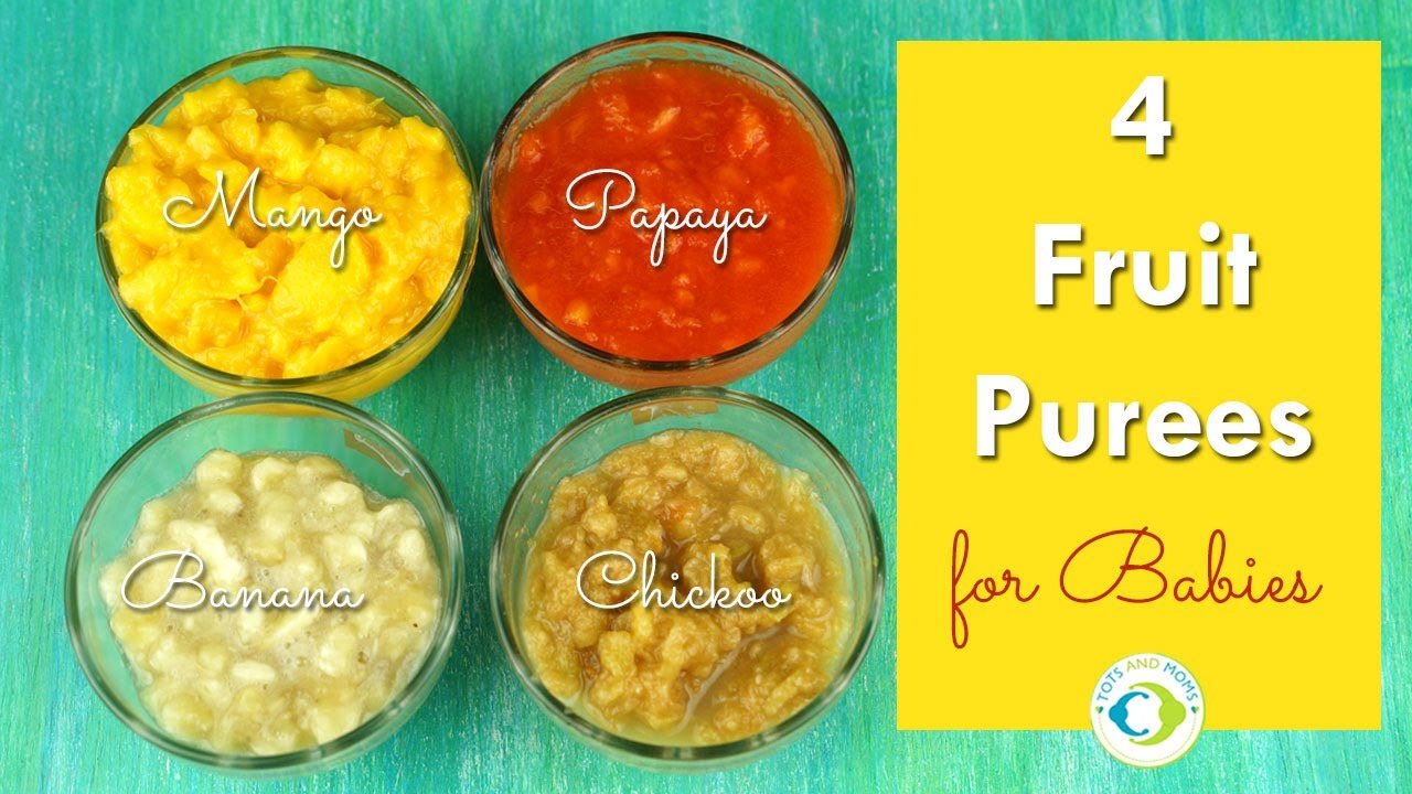 How to Make Fruit Purees for Babies images