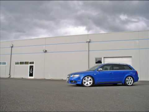 A quick look at my 2005.5 Audi S4 Avant that is lowered on H&R Spings and a listen to the Magnaflo Exhaust with the 4.2L V8.