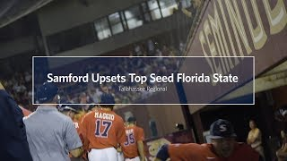 SAMFORD UPSETS TOP SEED FLORIDA STATE IN NCAA REGIONAL, 7-6