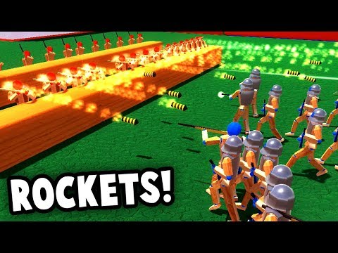 ROCKET BARRAGE!  Crazy NEW Rocketman Units! (Wooden Battles Gameplay)