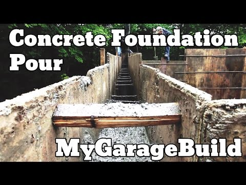 Concrete Foundation Wall Pour - 8 - My Garage Build HD Time Lapse