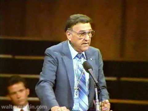Dr. Walter Martin - Part 1 of 2 - Jehovah of the Watchtower 1987