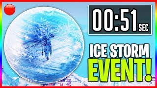 """🔴 The ICE STORM Event in Fortnite! - LIVE """"ICE BALL"""" EVENT Right Now (Fortnite Battle Royale LIVE)"""
