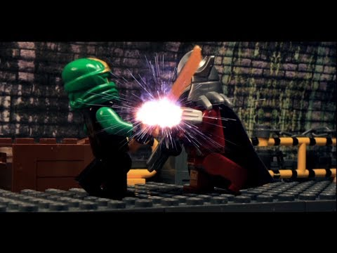 LEGO: Ninjago 2014 Battle #2 Lloyd VS TMNT Shredder (Brickfilm)