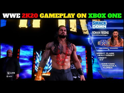 WWE 2K20 Gameplay On XBOX One - WWE 2K20 The Tribal Chief Roman & More Gameplay   