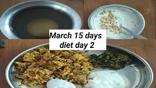 March 15 days weight lose diet, egg diet, low carb diet, day 2