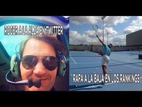 Roger a la alza en Twitter y Nadal a la baja en los rankings