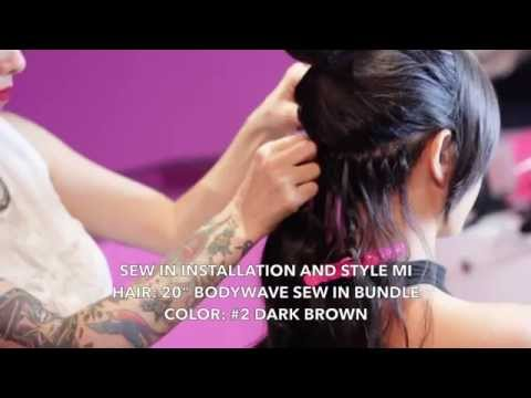 BELLAMI Sew-In Installation & Style Mi featuring BrittanyBearMakeup