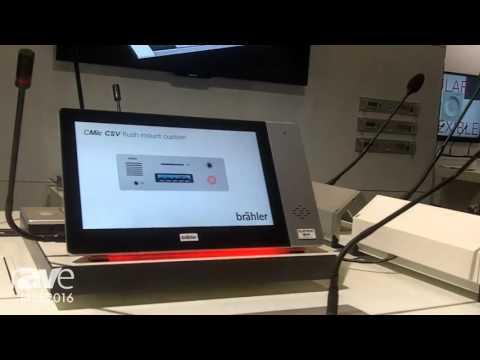 ISE 2016: Brähler Presents DIGIMIC Conference Display System
