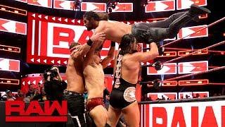 Seth Rollins, Finn Bálor & Jeff Hardy vs. The Miz & The Miztourage: Raw April 9, 2018