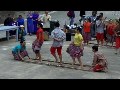 Filipino Tinikling Dance By Sinag-tala Group: Kulintang Music & Dance video