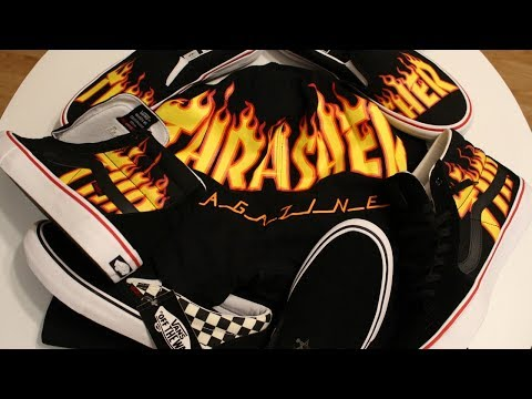 VANS X THRASHER COLLECTION UNBOXING & REVIEW