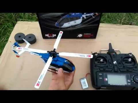 โทร 093-0070184 รีวิวฮอบังคับวิทยุ XK K124 EC145 6CH 3D  สินค้า ร้าน NPSHOP