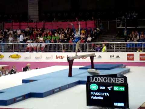 Valeriia MAKSIUTA ISR, Beam Senior Qualification, European Gymnastics Championships 2012