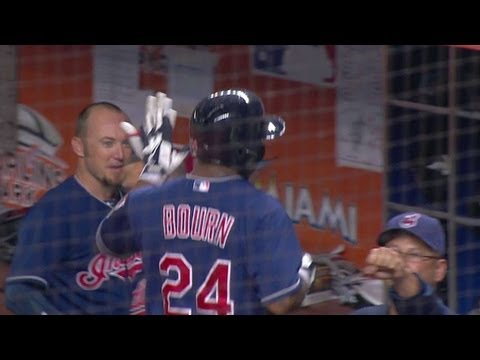 CLE@MIA: Bourn uses speed to manufacture a big run