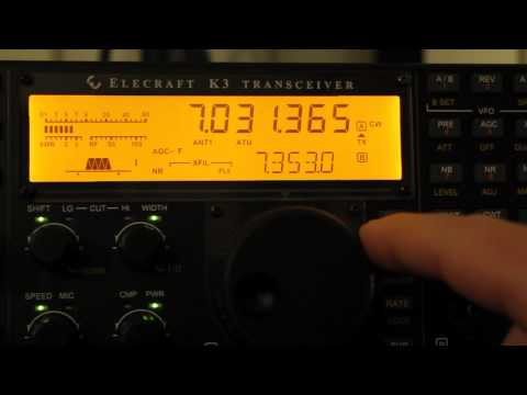 Elecraft K3 CW Tuning Aids Demonstration
