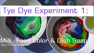 Tie Dye Experiment 1: Milk, Food Coloring & Dish Soap