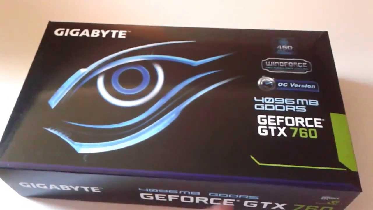 Gigabyte Gtx 760 Gddr5-4gb Unboxing Geforce Gtx 760 4gb