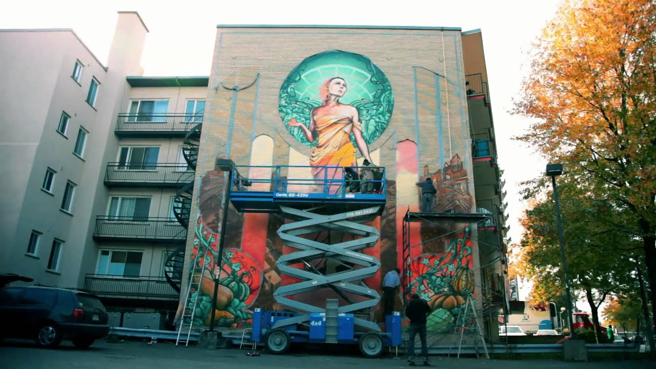 A 39 shop notre dame de gr ce our lady of grace mural for Art mural montreal