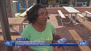 Durham councilwoman who tweeted white supremacist rumor speaks out