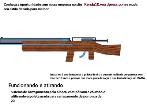 projeto para arma de fogo tipo fogo central de alta potencia