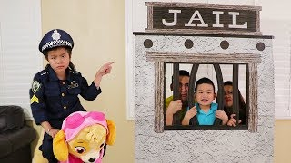 Download Song Jannie Pretend Play w/ Funny Jail & Skye Ride on Toys Free StafaMp3