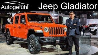 Jeep Wrangler JL Rubicon vs Jeep Gladiator Pickup comparison - Autogefühl