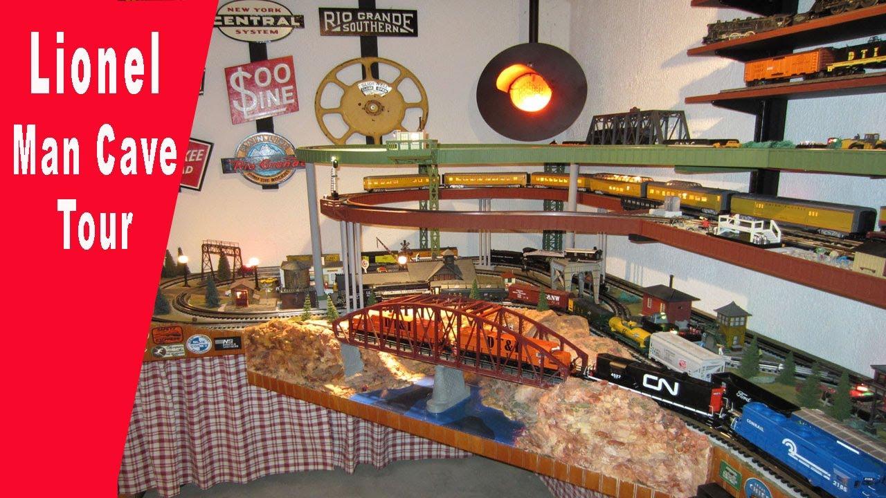 Man Cave Train Room : Lionel man cave tour hd youtube