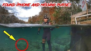 FOUND IPHONE AND PURSE WITH MONEY IN THE RIVER | CJ FAISON