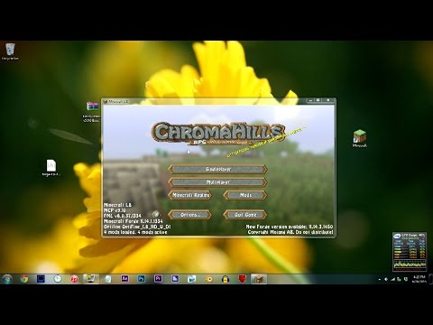 Minecraft Tutorial - How To Install Shaders 1.8 w/ Forge + Optifine + PixelCam Mod | 60fps