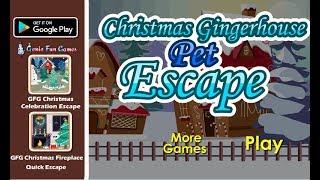 GFG Christmas Gingerhouse Pet Escape