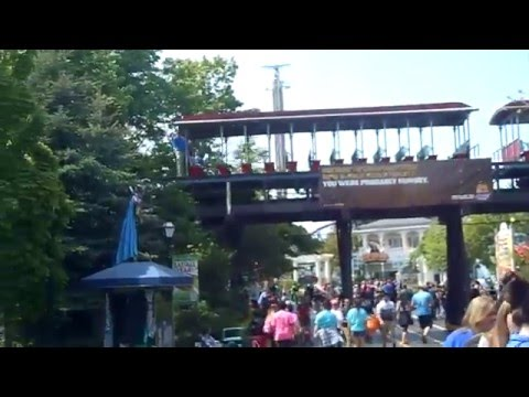 Scenic Railway Cycling Six Flags Great America 5-18-16
