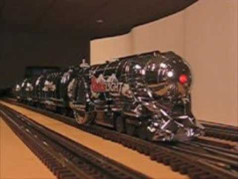 O-gauge MTH Coors Light Silver Bullet Train Set