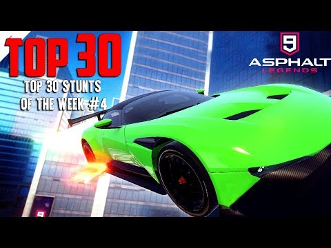 Asphalt 9 | Top 30 Epic Stunts (Funny Moments,Bugs,Glitches,Compilation) #4