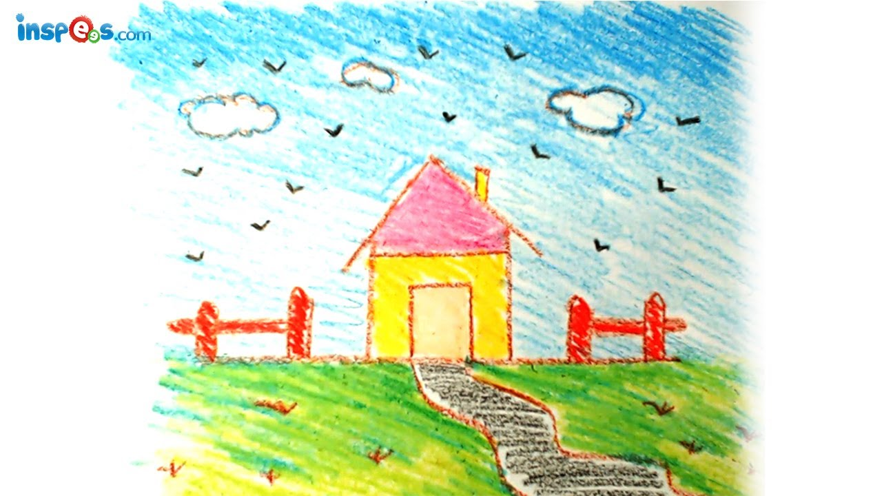Kids House Drawing How to Draw House Landscape