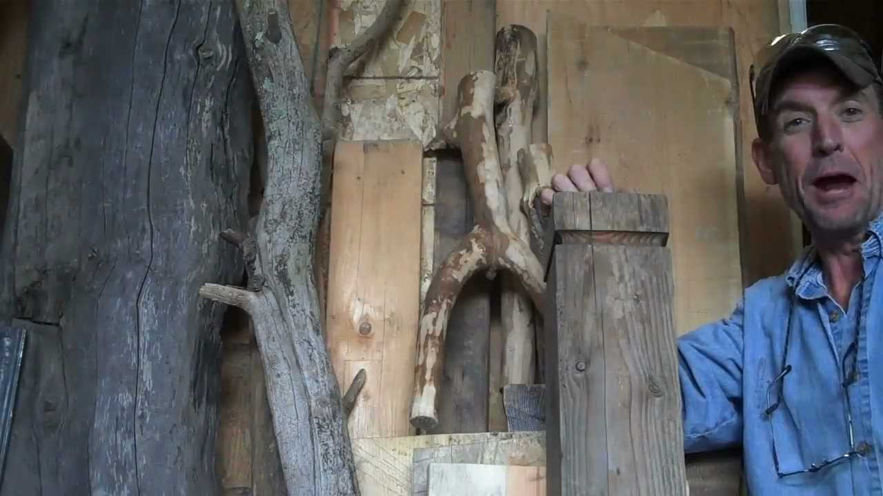 how to make your own log furniture