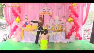 CLIP  SINH NHAT BE DUC ANH 1 TUOI