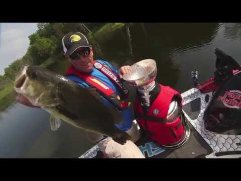 Dave Mercer Pumps a Largemouth Bass into The Stanley Cup - Facts of Fishing THE SHOW
