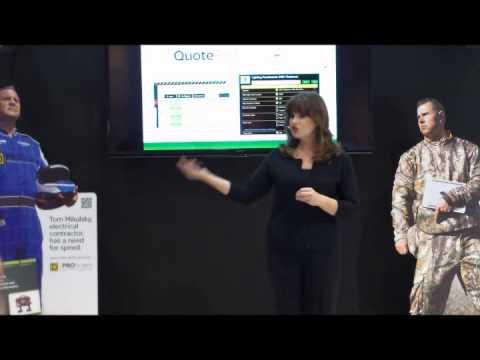 Jack Morton Exhibits Presentation at NECA (Emilie Barta Trade Show Presenter/Corporate Spokesperson)