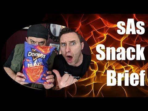 sAs SnackBrief: Doritos Blaze NEW! HOT! SPICY! Taste Test & Review!