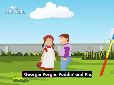 English Nursery Rhymes – Georgie Porgie puddin pie