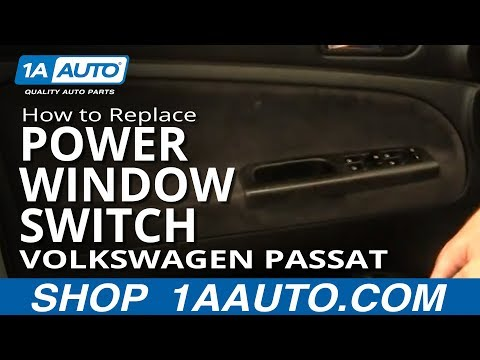 How To Install Replace Master Power Window Switch Volkswagen Passat 01-05 1AAuto.com