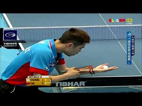 2015 Kuwait Open Ms-QF: FAN Zhendong - CHUANG Chih-Yuan [HD] [Full Match/Chinese]
