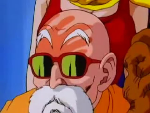 Maestro Roshi manosea a Bulma (Dragon Ball Z)