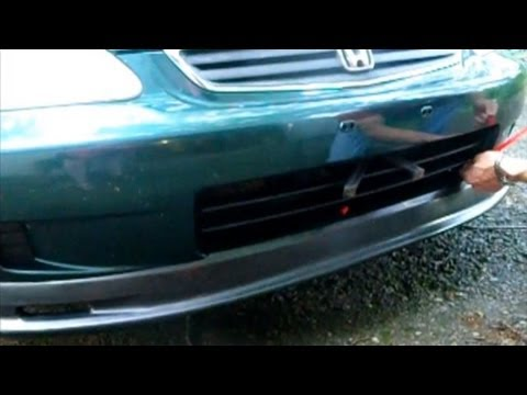 How To Install Front Lip Chin Spoiler On A Honda Civic